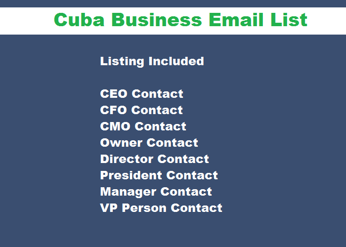 Cuba Business Email List