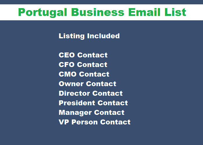 Portugal Business Email List